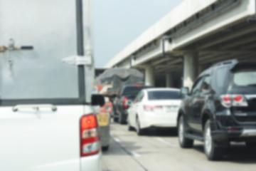 Blur traffic road with Logistics  transportation concept
