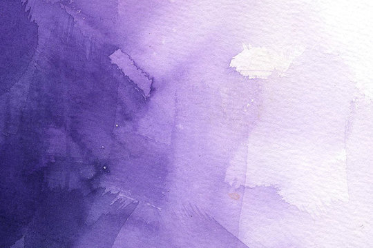 Abstract watercolor on white background.The color splashing in the paper.It is a hand drawn
