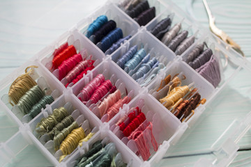 Box of Threads for Embroidery