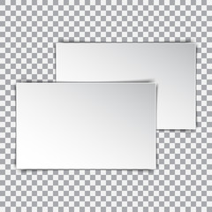 Two white blank poster mockup, sheet of paper on isolated background