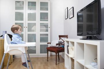 Baby boy watching Childrens TV
