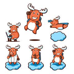 Tour Travel Explorer Adventure Fat Deer Moose