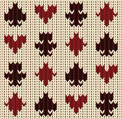 Knitted poker seamless pattern, vector illustration