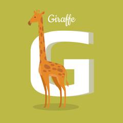 Animals Alphabet. Letter - G