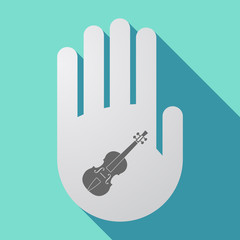 Long shadow hand with  a violin