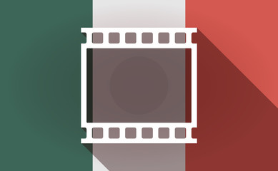 Long shadow Mexico flag with   a photographic 35mm film strip