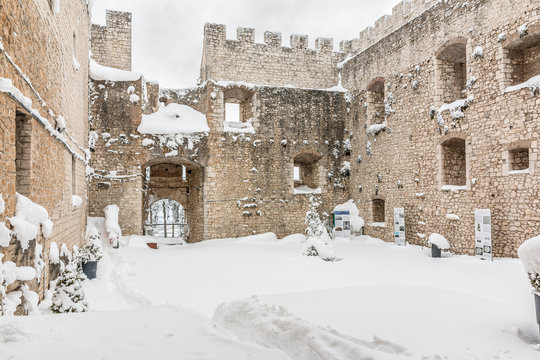 snowy fortress of Campobasso