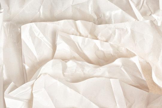 Layers of crumpled wax paper. Craft, handmade, art