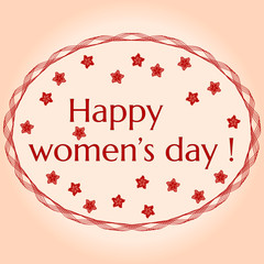 Greeting card. 8 March International Women's Day.