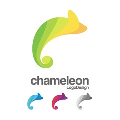 Abstract Chameleon Logo Vector