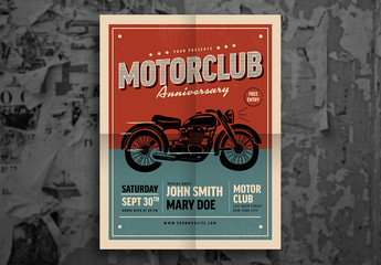 Motorcycle Flyer Layout