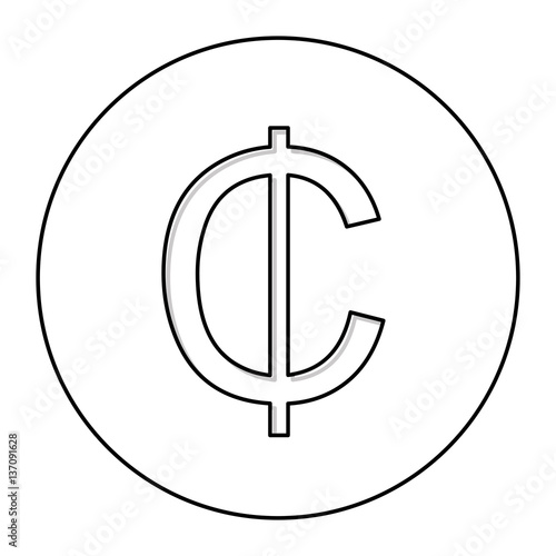 Ghanaian Cedi Currency Symbol Icon Image Vector Illustration Stock