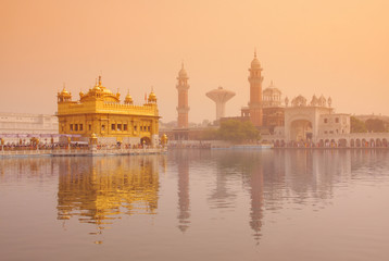 Golden Temple in Amritsar , Punjab
