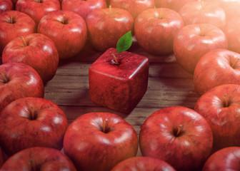 Wall Mural - rote Äpfel - Ecken und Kanten zeigen