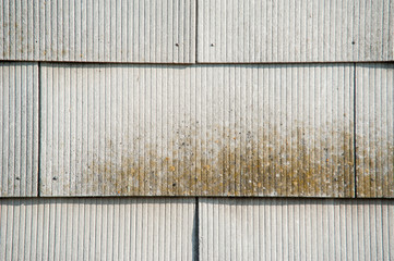 Fassade aus Faserzementplatten