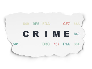 Safety concept: Crime on Torn Paper background