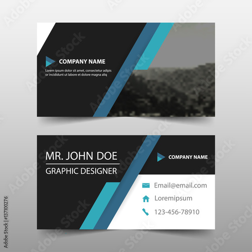 Blue corporate business card name card template horizontal simple blue corporate business card name card template horizontal simple clean layout design template business banner template cheaphphosting Image collections