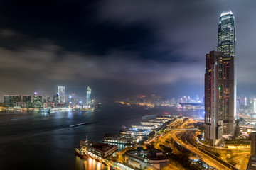 Fototapeta Victoria Harbour Night