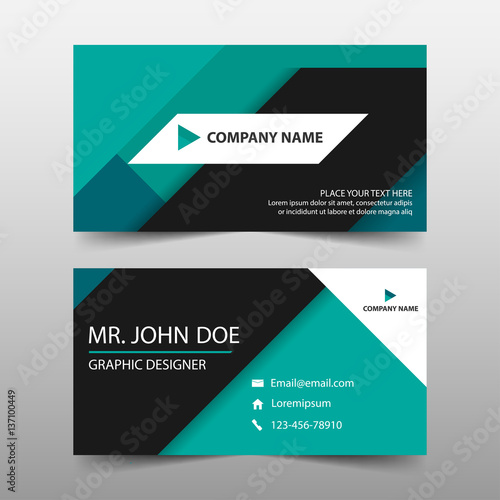 u0026quot;Green corporate business card name card template ...