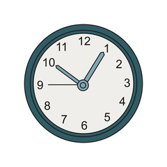 Wall clock color illustration