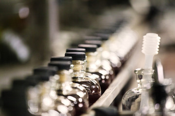Alcohol on production line