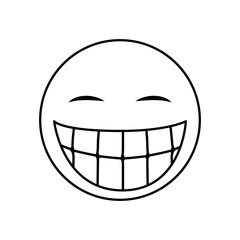 Funny emoticon cartoon icon vector illustration graphic design