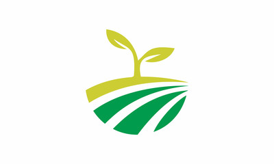 Agriculture and Leaf Logo Template