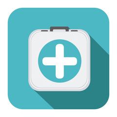 symbol hospital suitcase icon image, vector illustration design