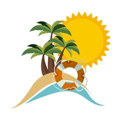 symbol beach icon image, vector illustration design