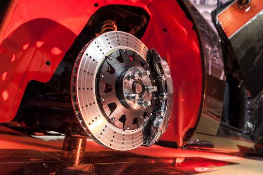 Brake disk and a wheel hub