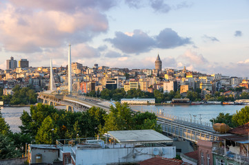 View of Istanbul on sunset