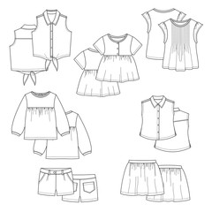 Vector kids clothes.