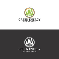 green energy logo in vector