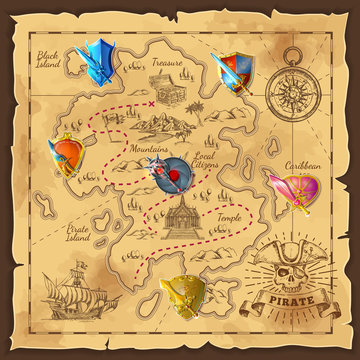 Cartoon Island Map Template