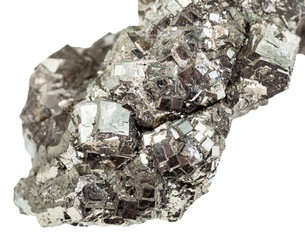 marcasite (white iron pyrite) close up isolated