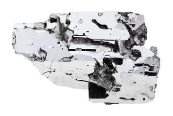 specimen of Galena stone isolated