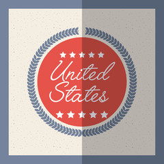 united states of america card. colorful design. vector illustration
