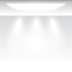 white grey empty studio room background with light, template mock up for display of content or product