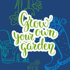 Garden lettering background