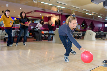 fun in the bowling center