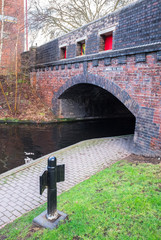 Overhead Bridge and Walking Path at Birmingham Canal