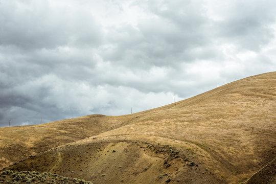 Hills on stormy day, Yakima County, Washington, United States of America
