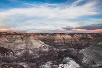 Rock formations at sunset, Holbrook, Arizona, United States of America