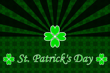 St. Patrick's Day, green background,