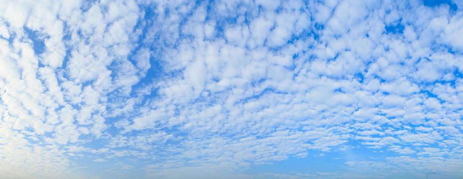 Altocumulus cloud fluffy on blue sky beautiful in nature.