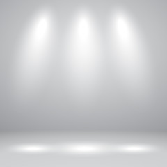 Vector of white grey empty studio room background with light, template mock up for display of content or product