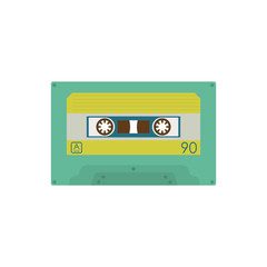 Cassette music device icon vector illustration graphic design