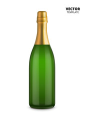 Champagne bottle vector isolated