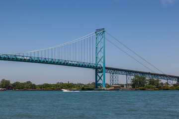 Wall Mural - Ambassador Bridge between Windsor, Ontario, Canada and Detroit, Michigan, USA