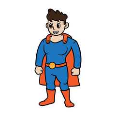 Cartoon Superhero Vector Illustration